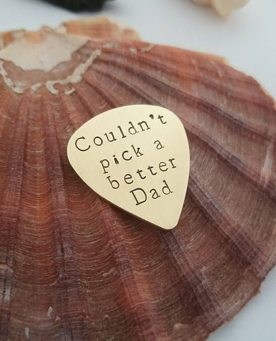 Couldn't pick a better Dad - Personalised Fathers Day Gift - Best Dad - First Father's Day -  Hand stamped Custom Plectrum - Guitar pick
