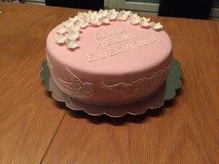 Ristiäiskakku tytölle / christening cake for girl