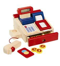 Realistic Wooden Cash Register With Movable Parts And Fun Accessories, 2015 Amazon Top Rated Cash Registers #Toy