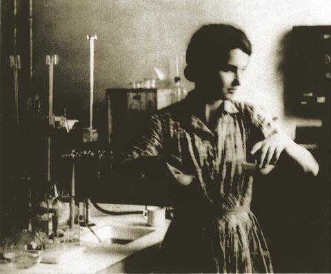 Rosalind Franklin in her lab, 1950.  Discovered the double helix of DNA along with Watson and Crick.