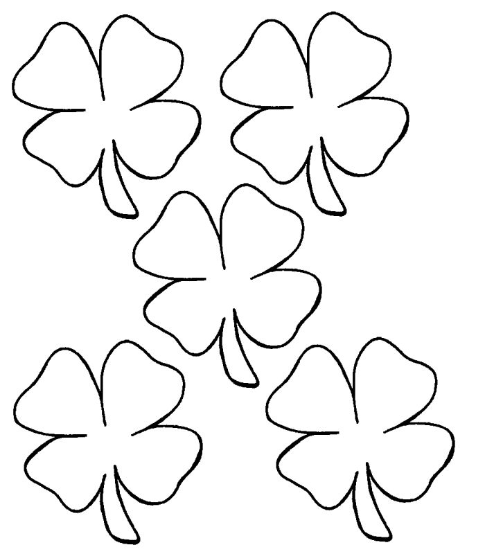 four leaf clover would be nice for st pattys applique border on a quilt