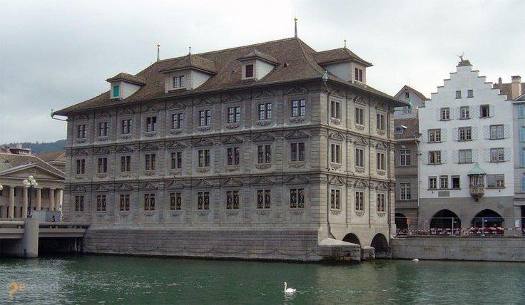 Ратуша – #Швейцария #Цюрих (#CH_ZH) Достопримечательность Цюриха.  ↳ http://ru.esosedi.org/CH/ZH/1000251261/ratusha/