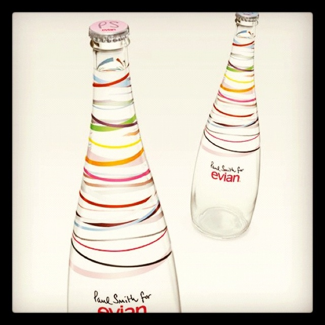 Gorgeous designs #creative #marketing #fashionEvian Water, Water Bottle, Paulsmith, Design Paul, Paul Smith, Packaging Design, Doces Paul, Smith Evian, Bottle Design