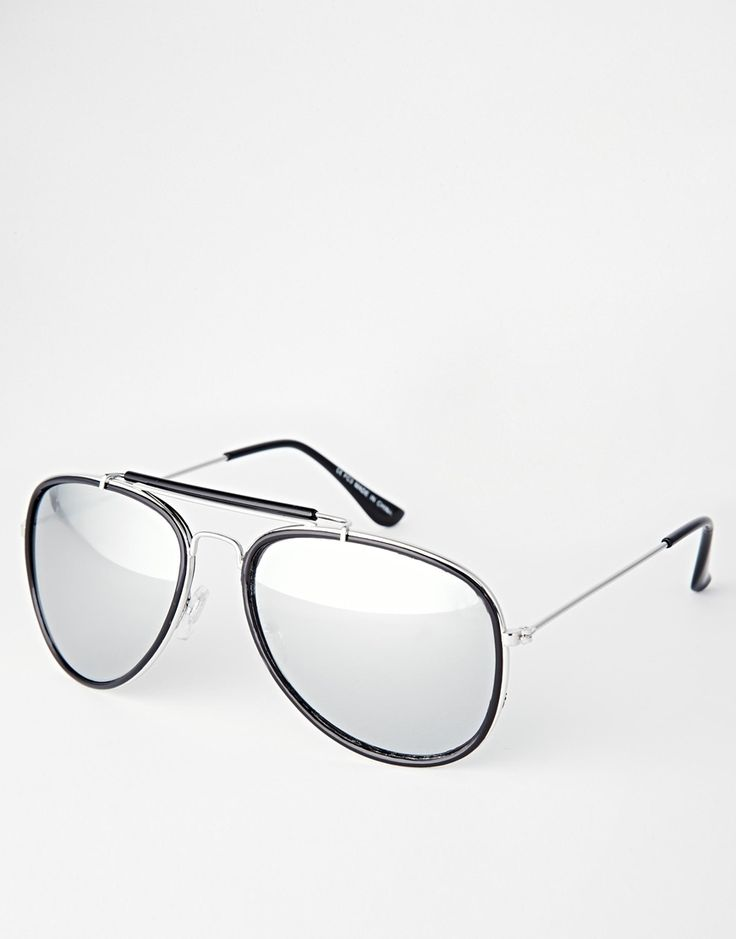 ASOS High Bar Aviator Sunglasses With Mirrored Lens - $22.00