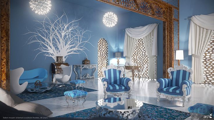 Middle East Lounge (Cold colors by day)