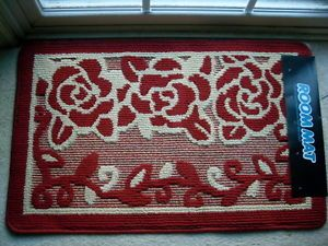 Rubber-Back-Rectangle-RED-color-Contemporary-Door-Mat-Rug-19-5-034-x-32-034-BY-DADA