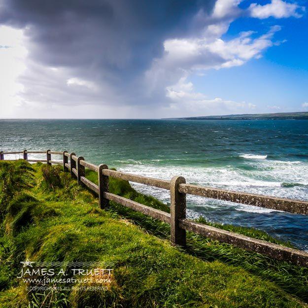 Atlantic Storm over Ireland's County Clare Coast