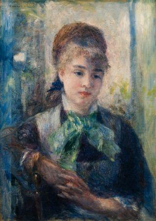 Pierre-Auguste RENOIR (1841-1919), Portrait de Nini Lopez, 1876, huile sur toile, 54 x 39 cm. © MuMa Le Havre / David Fogel