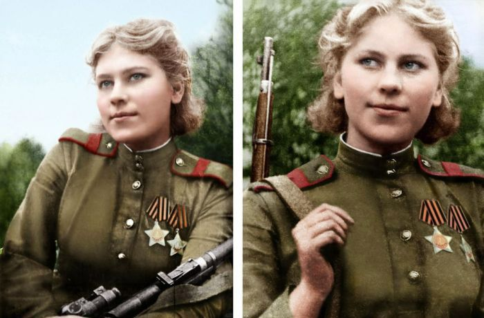 Russian sniper Rosa Shanina who killed 59 nazi officers and soldiers during the WW II