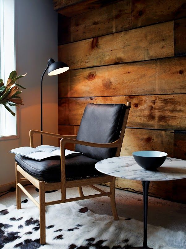 "designwithinreach: "" DWR.com Colonial Chair and Footstool Designed by Ole Wanscher, produced by Carl Hansen & Søn """