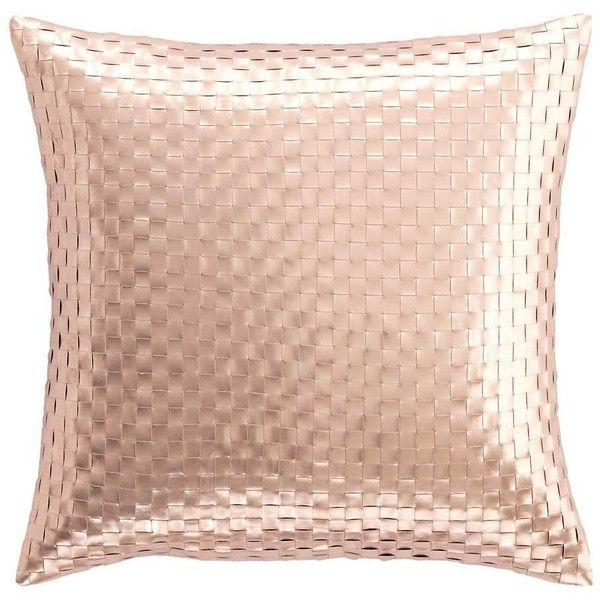 Shimmer Rose Gold Decorative Pillow design by Fresh American ($130) ❤ liked on Polyvore featuring home, home decor, throw pillows, rose gold home decor, woven throw pillows, metallic throw pillows, rose gold throw pillows and metallic home decor