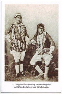 Series of Western Armenia Sivas Armenian Costumes Men from Sebastia | eBay