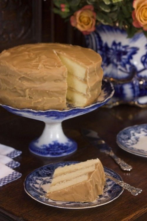 caramel cake-- the old fashioned kind - Oh, this takes me back to when a friend and I tried making caramel icing from her mom's recipe.... geez louise, we wasted so much sugar trying to get it juuuust right!!