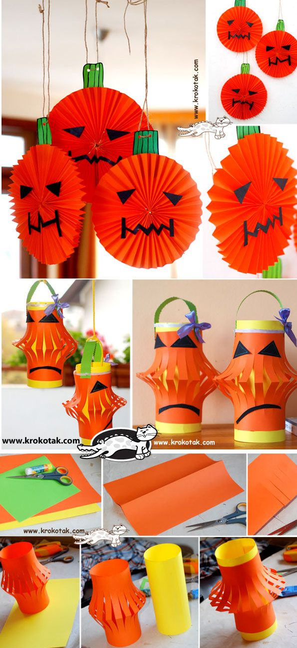 halloween diy kids crafts Pumpkins