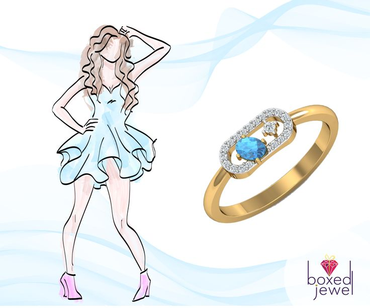 Stay cool, look chic. Adorn a fresh summer look with this stunning ring.  #Jewelry  #Gold  #DiamondRing  #Gift