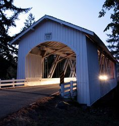 The Hannah Bridge is a covered bridge in Linn County in the U.S. state of Oregon. It was added to the National  Register of Historic Places as Hannah Bridge in 1979.