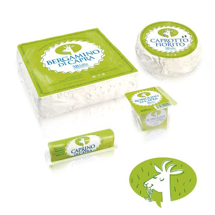 #Marchio e #packaging #3Blatte per formaggi di capra