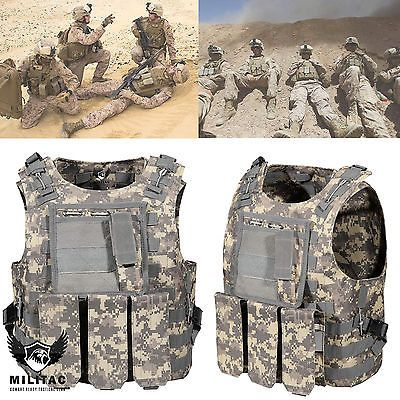 Acu #digital camo tactical #vest. airsoft #/paintball molle combat assault vest ,  View more on the LINK: 	http://www.zeppy.io/product/gb/2/271698088719/