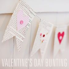 Valentine bunting;) You could make butterfly bunting .... possibilites and cuteness are endless;)