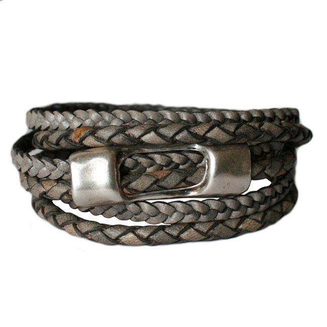 Armband  DARE!  LA24, grijs/bruin