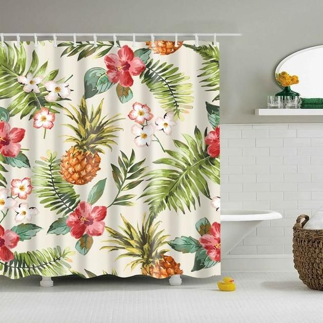 Tropical Pineapple Shower Curtain House Of Andaloo Home Store