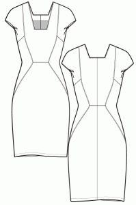 Sewing pattern - Panelled summer dress - Ralphpink-patterns.com