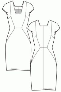Sewing pattern - Panelled summer dress - Ralphpink-patterns.com