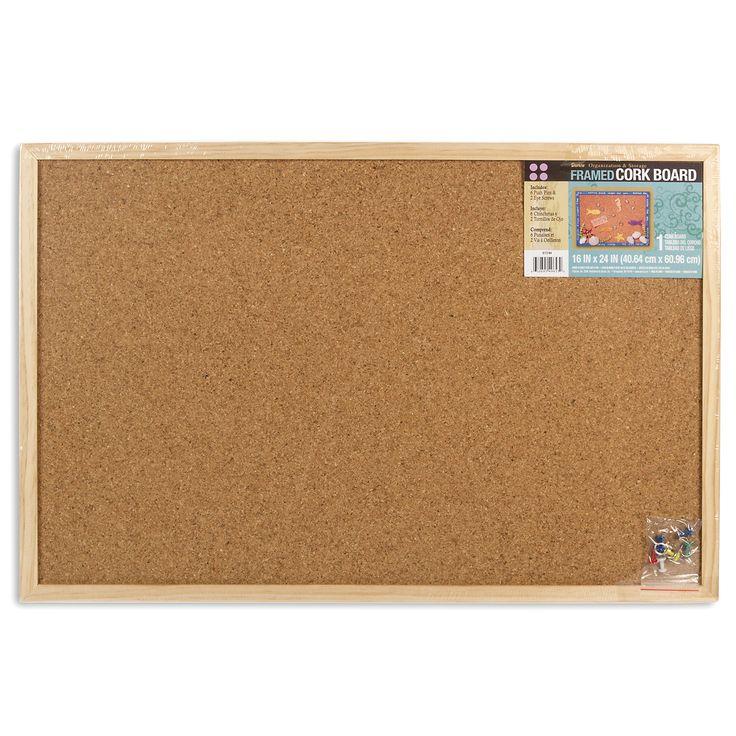 """Darice 9172-64 16"""" X 24"""" Frame Cork Memo Board"""