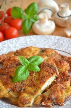 Uwielbiam gotować: Kotlety z kurczaka, pieczarek i sera