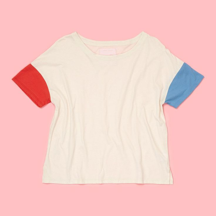 sailor tee - red/chambray