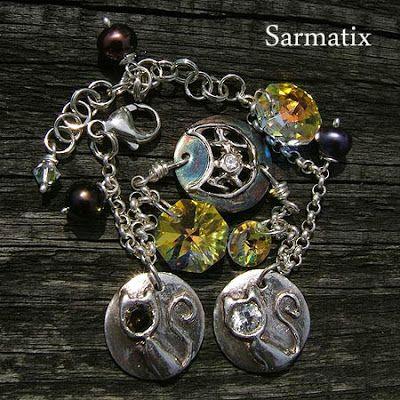 handmade, recycled silver, bracelet, OOAK