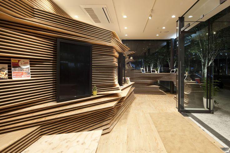 Shun Shoku Lounge by Kengo Kuma & Associates
