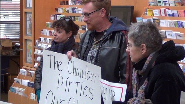 I Help Organize a Peaceful Protest About Climate Crisis at Eugene Area Chamber of Commerce