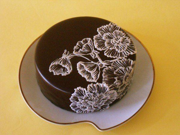 Декор торта, рисуем айсингом. Комментарии : LiveInternet - Российский Сервис Онлайн-Дневников
