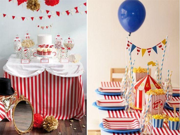 Оформление детского стола в цирковой тематике