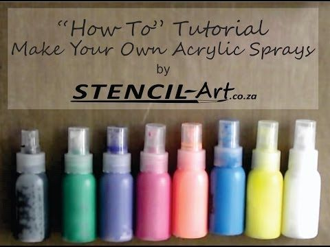 How To Make Acrylic Sprays. - YouTube  https://www.youtube.com/watch?v=o08USAY9GFY