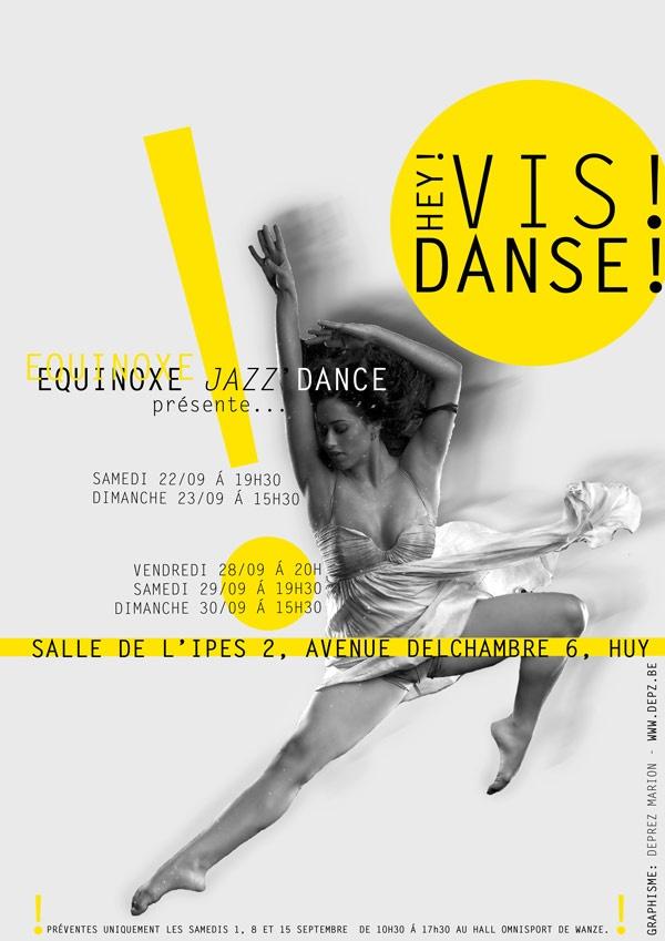 Affiche réalisée pour un spectacle de danse du club Equinoxe