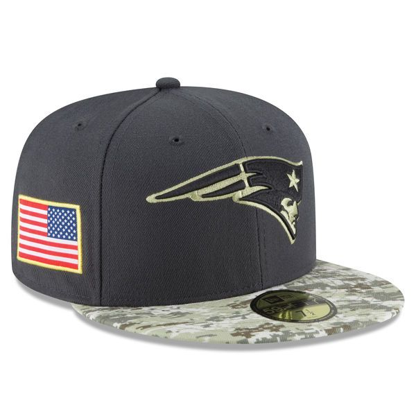 New England Patriots New Era Youth Salute To Service Sideline 59FIFTY Fitted Hat - Graphite/Camo - $27.99