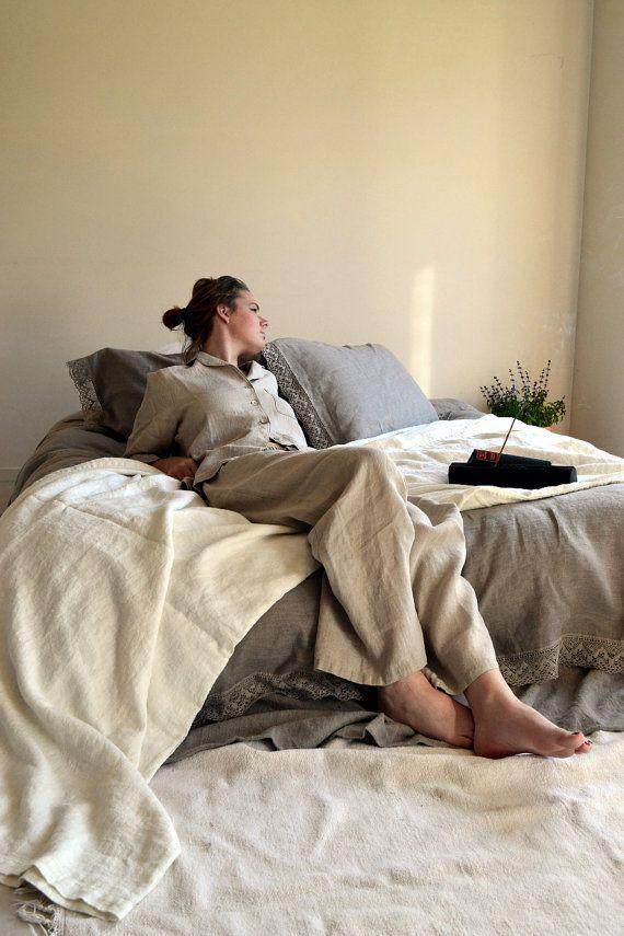 Luxurious natural linen pyjamas/  PJ's/ by HouseOfBalticLinen, $145.00