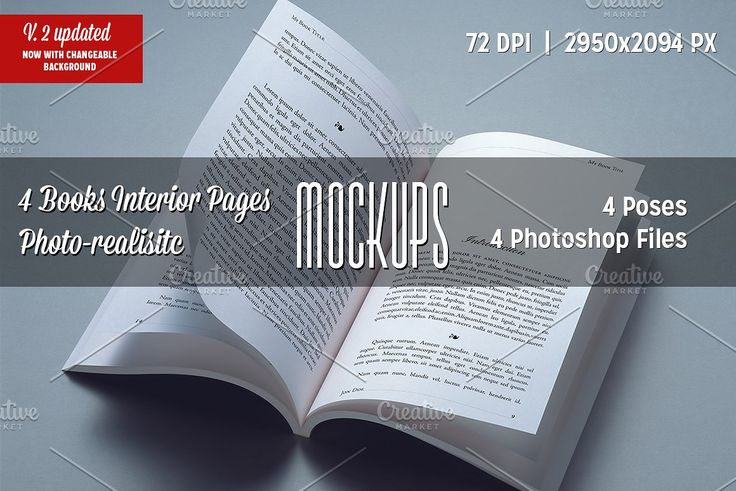 4 Books Interior Pages Mockups Product Mockups Postcard Mockup Mockup Free Psd Free Psd Mockups Templates
