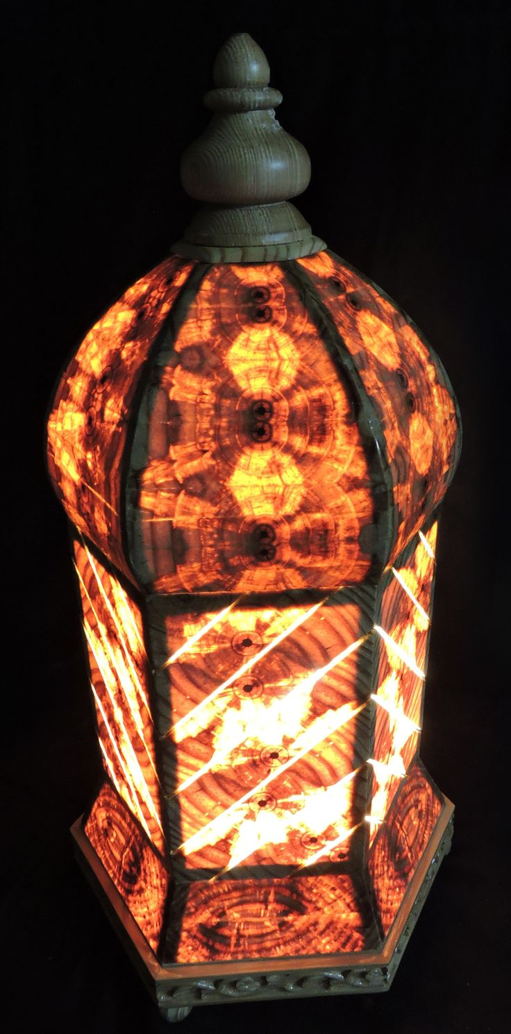 Arabian beauty in various forms of arts can hardly be over emphasized e.g.architecture, calligrahy, etc. How aesthically a contemporary designer has designed Arabian lamp in pinewood depicting the inner beauty of the wood.