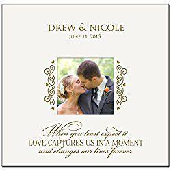 Personalized Wedding Photo Album Custom Engraved Photo Book Holds 200 4x6 Photos Wedding Gift Ideas By Dayspring Milestones