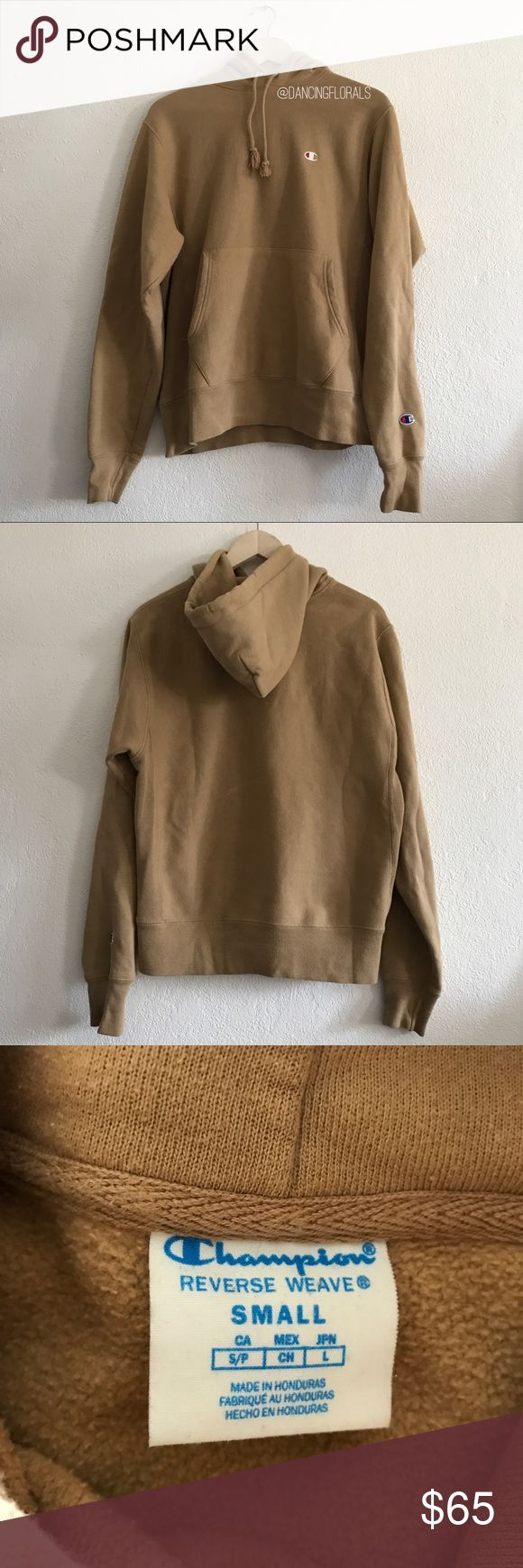 champion x urban outfitters beige hoodie champion x urban outfitters beige hoodie | has a flaw on the back with a white slash. | men's size S so it would be quite oversized for a women's size s Champion Sweaters
