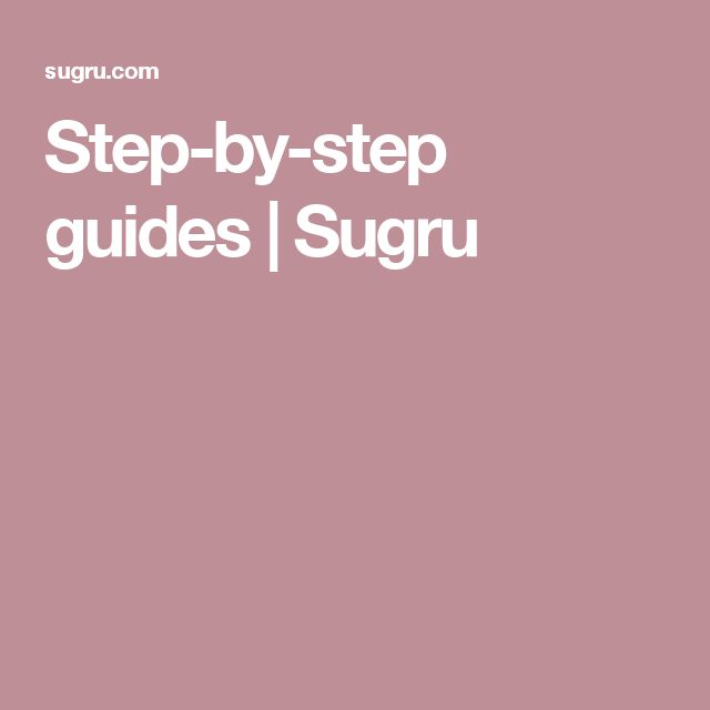 Step-by-step guides | Sugru
