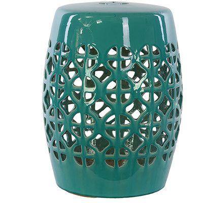 Urban Trends Ceramic Garden Stool   Wayfair