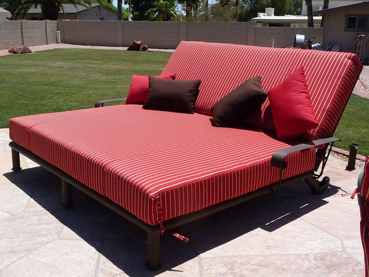 Double wide chaise lounge chairs images of double chaise for Big comfy chaise lounge