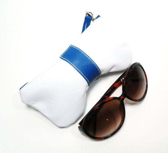 Leather Curves Eyeglass Case Sun Glass Case by PouchStyle on Etsy, $45.00