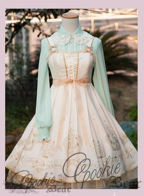 Newly Added (pre-order) ---> Cookie Bear ***Princess Crown*** JSK >>> http://www.my-lolita-dress.com/cookie-bear-princess-crown-lolita-jumper-dress-cob-1