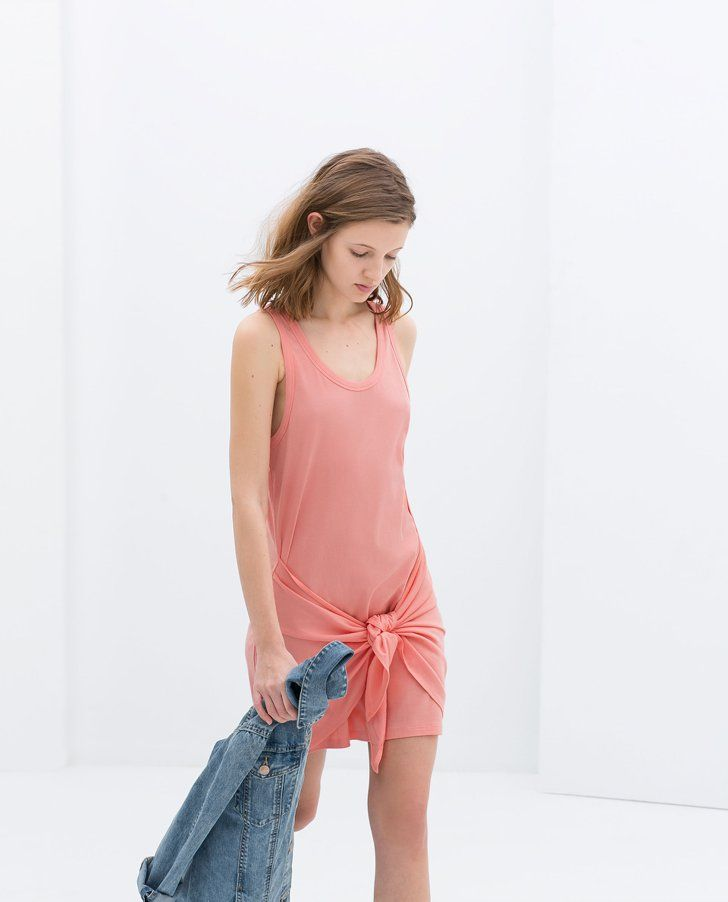 Pin for Later: The Subtle, Cool-Girl Twist We Can't Get Enough Of Zara Dress With Knot Detail Zara Dress With Knot Detail ($36)