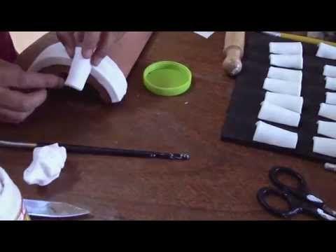 Teja Decorada - Paso 1: Preparación de la Teja - YouTube